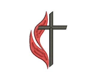 cross and flame etsy rh etsy com methodist cross and flame clipart methodist cross and flame clipart