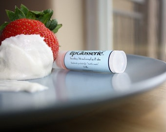 Strawberry Swirl - Vegan Lip Balm - Free Shipping - Handmade