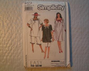 Vintage Simplicity Maternity Pattern 9571 Maternity Dress Tunic Skirt Pants