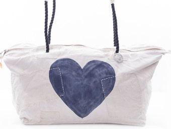 Ali Lamu Large Weekend Bag Heart Navy Blue