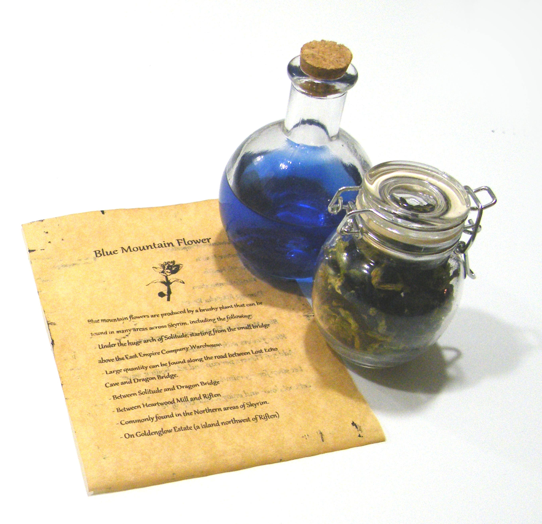 Skyrim Blue Mountain Flower Tea Organic Health Blue tea