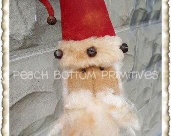 ePattern~Primitive Santa on a Stick Jar Poke, PDF File, Instant Download