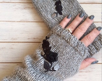 Hand Knit Fingerless Mitts - Perfect for Gift Giving or For Yourself