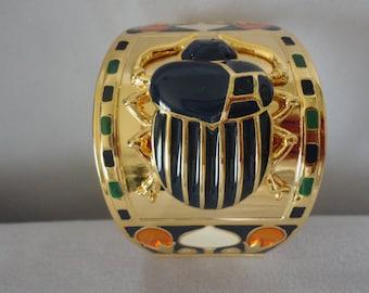 Splendid Egyptian Scarab Tutankhamun Cuff Bracelet******.