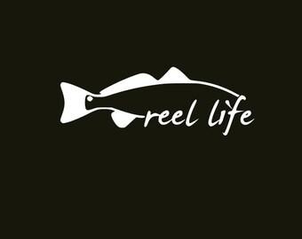 Reel Life Fishing Decal