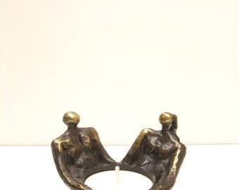 candle holder art bronze