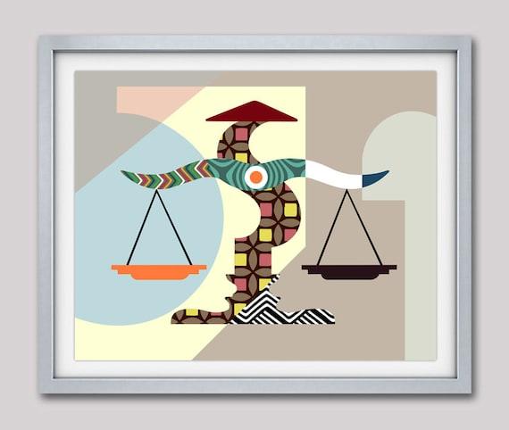Libra Art, Attorney Gift, Libra Star Sign Poster,  Libra Gift,  Libra Print Wall Art,  Libra Art Print, Zodiac Gift, Horoscope Gift