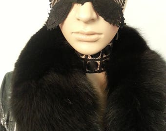 Costume couture black Mask,Italian mask,Ready to ship,fetish,Entertainment,Headpiece,Luxury fetish,Costume Couture,Made In Italy,mardi gras