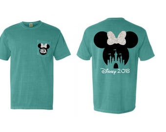 Heat transfer monogram vinyl Disney design on shirt