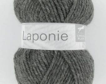 Chunky yarn and yarn No. 030 charcoal white horse LAPLAND