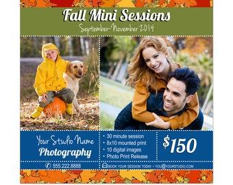 Mini Sessions Marketing Card Photoshop Template 001