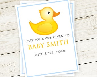 Rubber Ducky #Bookplates (set of 12) - #Baby #Shower / #Stickers