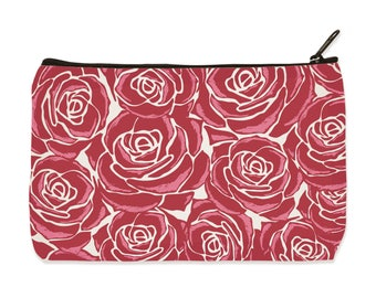 Roses Canvas Zip Pouch