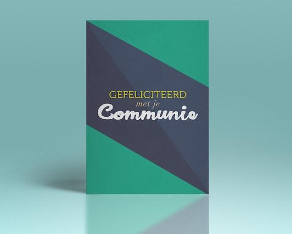 Communie wenskaart // voor meisjes en jongens // enkele kaart inclusief enveloppe // postkaart // eerste communie // plechtige communie