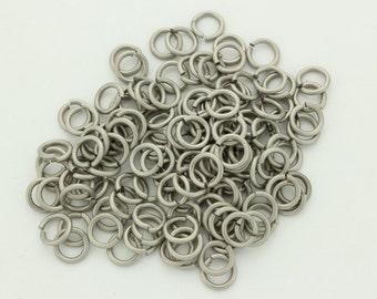 16 swg  1/4'' jump rings pure titanium saw cut AR 4.2
