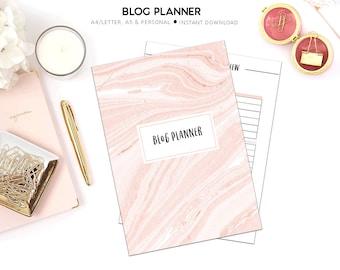 PRINTABLE Blog Planner   Blogging Planner    Blog Organizer   Social Media Planner   Blog Kit   Printable Planner    Blog Post Planner