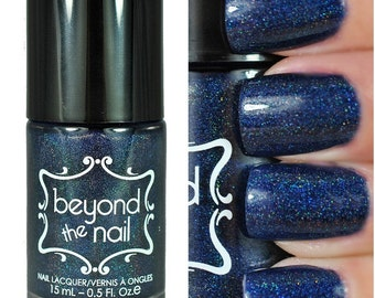 Sloteazzy - Navy Holographic Jelly Glitter Polish