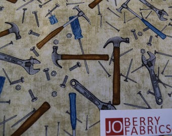 Tools from the Craftsman Collection by Dan Morris for Quilting Treasures.  JoBerry Fabrics,  Fabric by the Yard.