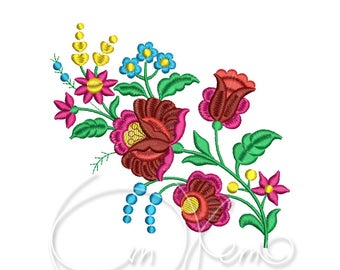MACHINE EMBROIDERY DESIGN - Hungarian flowers