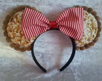 Disney Ears; Mouse Inspired Bucket of Popcorn Ears; Sweet and Salty; Fat Free