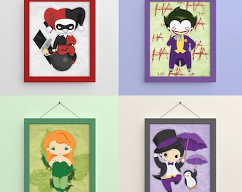 Gotham Villains 1 8x10 Prints