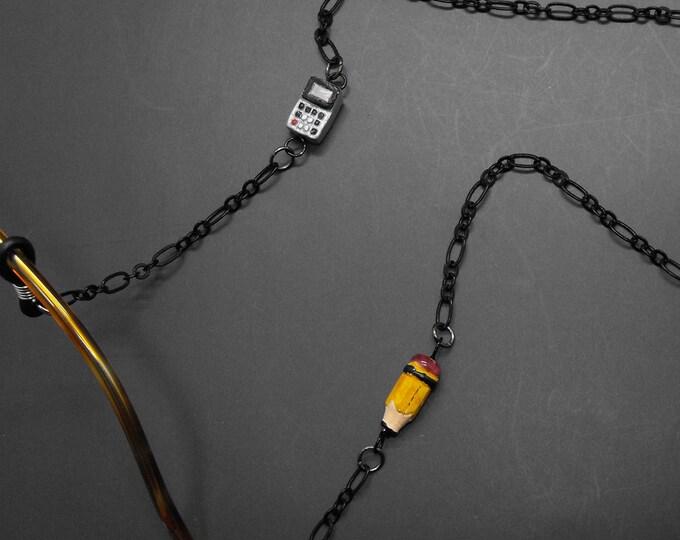 Math Calculator Pencil Eyeglass Chain Glasses Holder Eye Glass Lanyard Math Teacher Gift