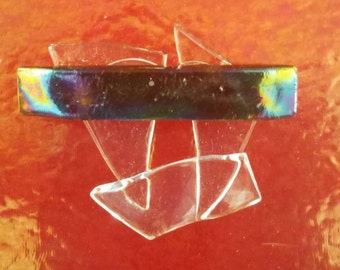 Shattered Glass Ceiling Fused Glass Pin, Fused Glass Jewelry, Fused Glass Art, Fused Glass Pin