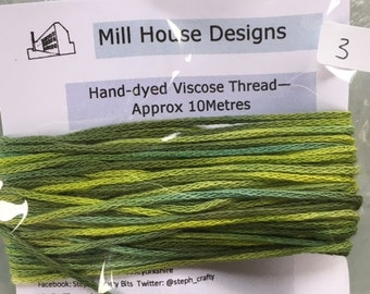 Hand-dyed Viscose Thread