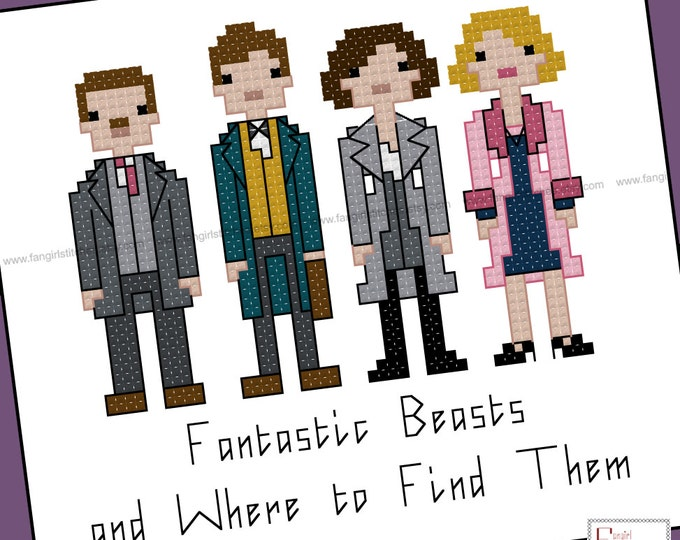 Harry Potter Parody - Fantastic Beasts and Where to Find Them cross stitch - PDF Pattern - Instant Download