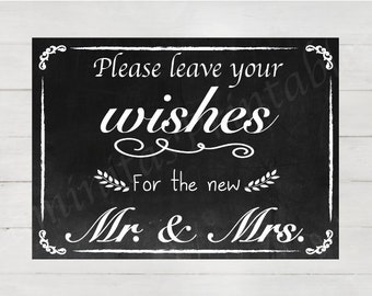 Chalkboard wedding Guest book Sign Printable - Digital File Printable - wedding guestbook - chalkboard wedding signs - chalkboard printable