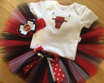Chicago Bulls inspired tutu outfit