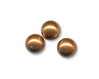 20 round Perle Swarovski 5810 Pearl 4 mm glass Pearl Copper color