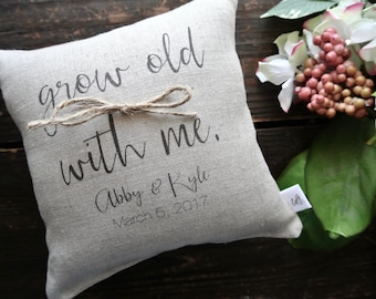Ring Pillow, Personalized Ring Bearer Pillow, Rustic Wedding, Ring bearer Pillow, Linen ring, Custom Ring pillow, Linen Ring bearer Pillow