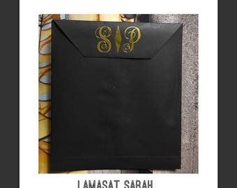 paper bags, card envelope, gift bags with monograms