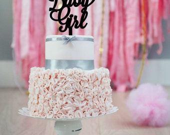Baby Girl Shower Cake Topper | Baby Shower Cake Topper | Baby Girl