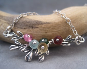 Family Tree - Blooming with Love- Branch Jewelry - Family Jewelry - Personalized - Birthstones-  Semi Precious Stones - Memorial