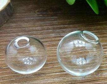 10pcs 10mm 12mm 14mm 16mm 18mm 20mm 25mm Clear Glass Cover, Glass bubble, Hollow Glass, necklace pendant,charming  601001