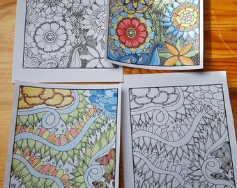 Flowery Coloring Pages