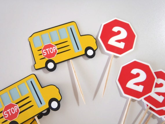 Wheels On The Bus Cake Topper