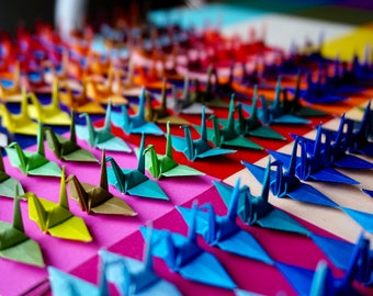 50 Origami Cranes *Ready to ship*