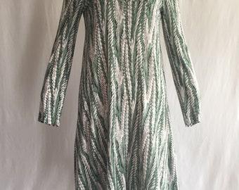 Diane Von Furstenberg Long Sleeve A-Line Dress 1970's