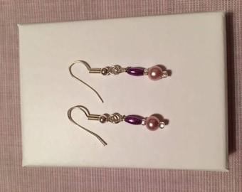 Bead droplet earrings