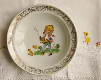 ASSSIETTE to mush VINTAGE Limoges porcelain