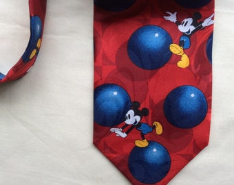 Vintage Disney Mickey Mouse tie, novelty Mickey Mouse tie.