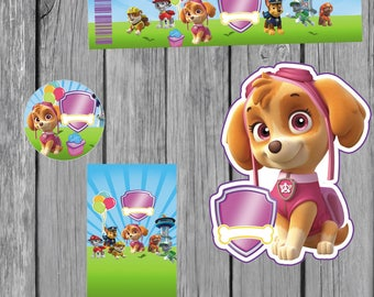 18 sky paw patrol invitation also  tags label party birthday english or spanish