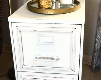 Chic metal file cabinet