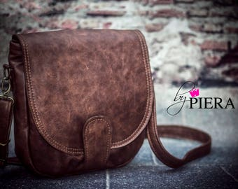 leather saddle bag, brown leather bag, rustic leather, brown leather, leather handbag, leather purse, leather crossbody bag
