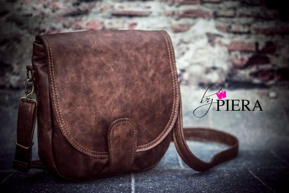 leather saddle bag, brown leather bag, rustic leather, brown leather, leather handbag, leather purse, leather crossbody bag