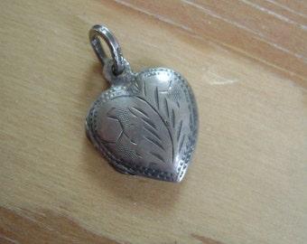 little heart locket in sterling