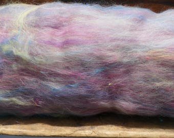 Super Lofty And Soft Rainbow Art Batt 5.25 Ounces Spinning Felting
